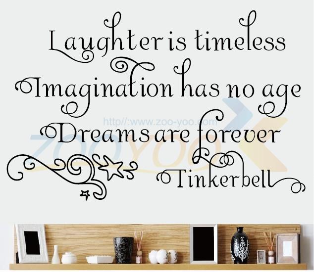 Воображение не имеет возраст мечты навсегда цитирует домашнего декора creativewall наклейка 8115 декоративные съемный виниловые наклейки