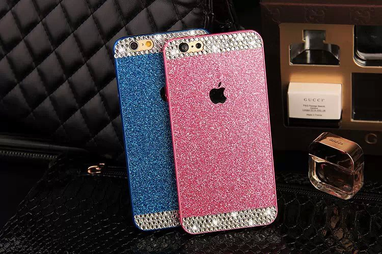 New trend up and down Crystal diamond plastic Case For iphone 6 4.7 inch Bling Color Glitter diamond Phone case(China (Mainland))