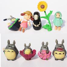 9pcs/lot 80g 4cmSpirited away Hayao Miyazaki Anime My Neighbor Totoro Ponyo figure KiKis Delivery PVC Model Toys