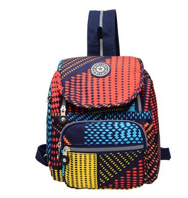 Hot sale waterproof mini backpack Flower Solid shoulder bags Nylon women Men Travel bag mix color school bags(China (Mainland))