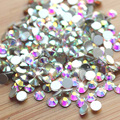 SS3 SS30 Super Shiny Crystal AB Color Nail Art Rhinestone Decorations Non Hotfix Flat Back Strass