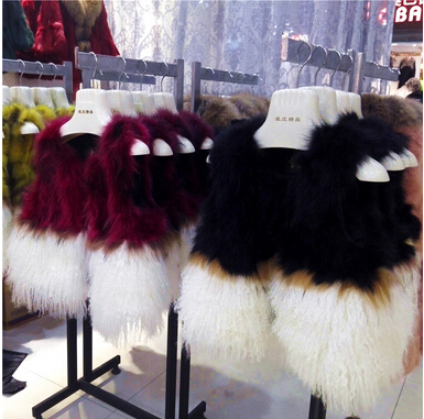 British style girl's short genuine raccoon fur vest with lamb fur 2015 Spring autumn women casual real fur gilet CW065(China (Mainland))
