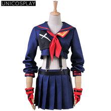 KILL la KILL Ryuko Matoi Navy Sailor Uniform Cosplay Costume Dress