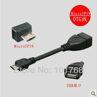 Promotion Shenzhen 350pcs/lot OTG Micro USB Cable, 5 pins OTG Convertor for tablet pc & mobile phone, freeshipping!!