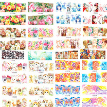 50 sheets Mixed Pattern Water Transfer Nails Foil Stickers Nail Full Wrap Decal Decorations DIY Beauty Watermark Tips #C180-227