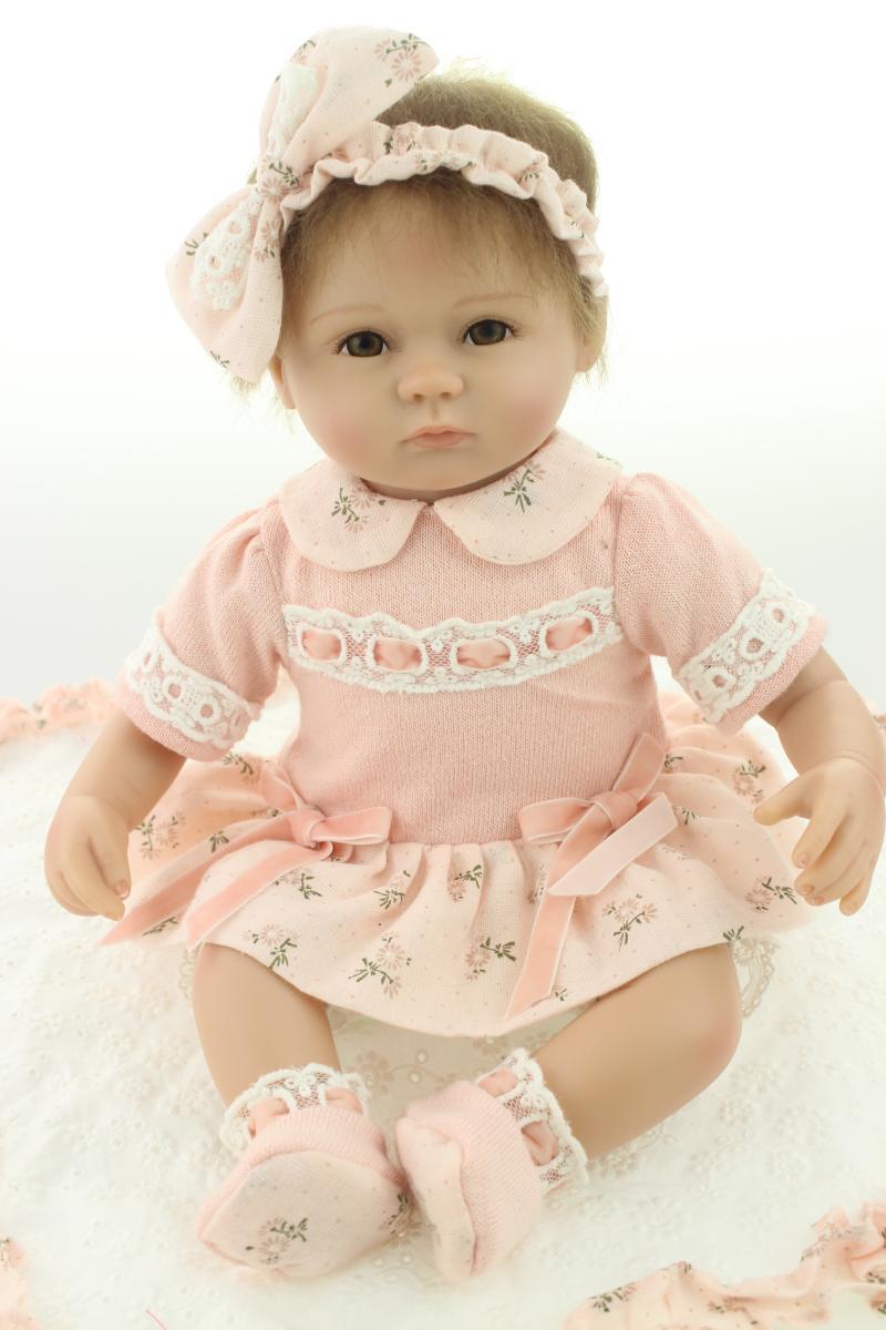 Силиконовые возрождается ребенка куклы игрушки для девочки реалистичные 42 см reborn младенцы bebe menina подарок на