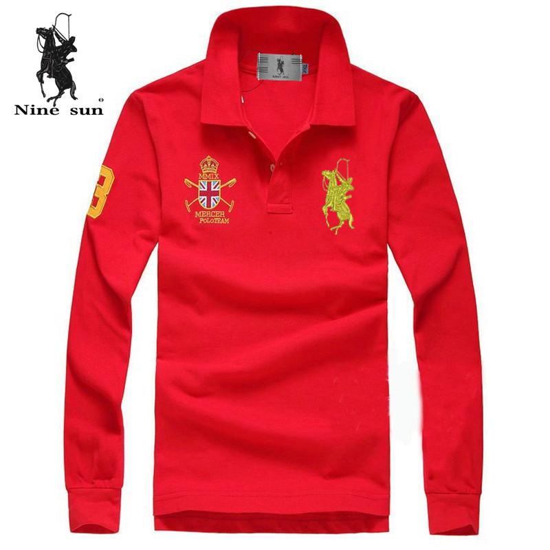 Wholesale brand camisa polo ralp men long sleeve shirt 100 for Cheap branded polo shirts