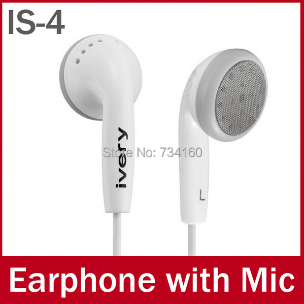 IS-4 Brand Earbuds with Mic,3.5mm Earphones Headphones For iPhone Samsung htc nokia xiaomi huawei jiayu lenovo MP3 mp4 and so on