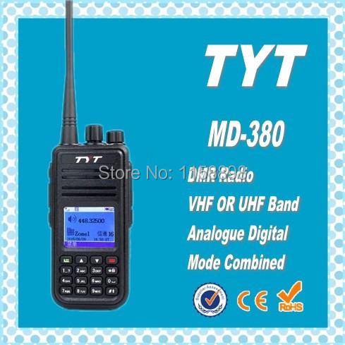 DHL Freeshipping+2pcs/lot Tytera TYT MD-380UHF DMR Radio Digital 5W Handheld 2 way radio long range walkie talkie 10km MD380(China (Mainland))
