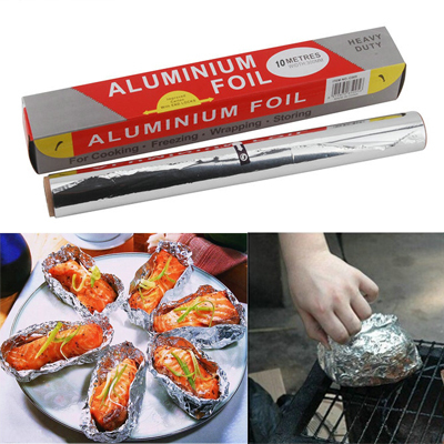 30cm*10m Aluminum Foil Paper Barbecue BBQ Baking Cooking Foil Food Packing Kitchen Oil Aluminum Foil Free Shipping(China (Mainland))