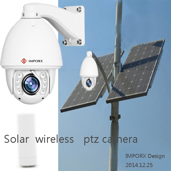 CCTV Solar panel power IP camera wireless wifi outdoor Auto tracking Full HD 1080 High speed dome security IR night vision(China (Mainland))