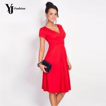 100% Высокое качество свободной женщины шея-линии работа пр платье беременной хлопок платье синий черный ну вечеринку платья осень зима бинты