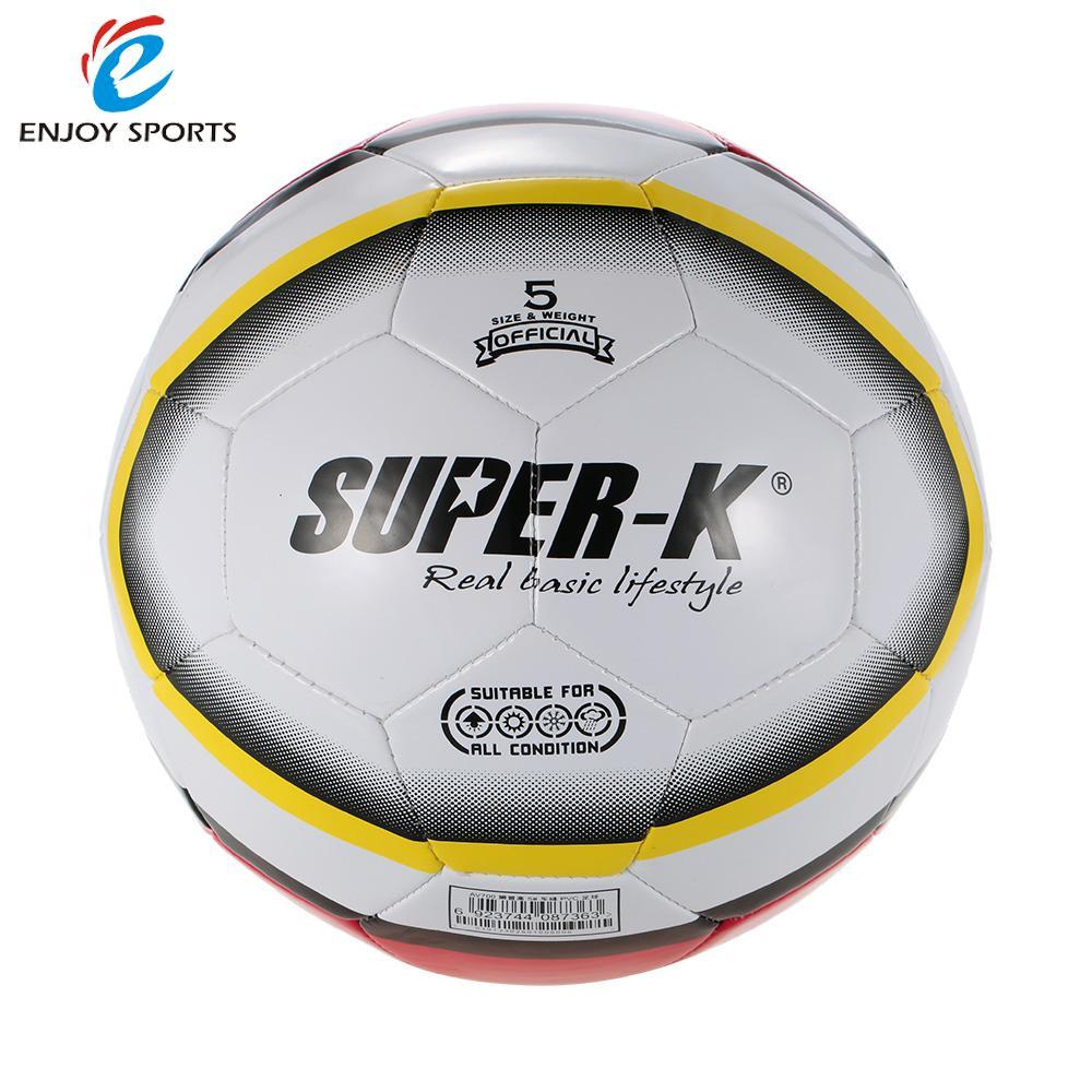 Super-K Football Soccer Ball Size Training Ball Street Rubber 5 PVC Soccer Kids Soccer Ball(China (Mainland))