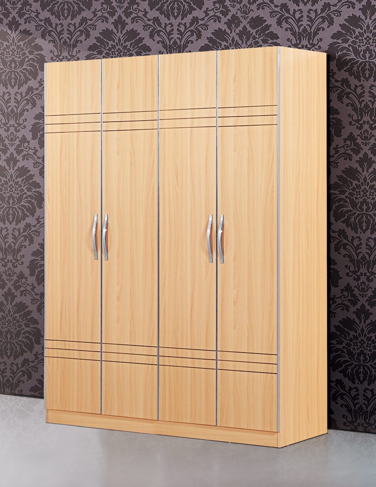 Bedroom Furniture simple wardrobe large wooden wardrobe closet simple cloth cabinet large capacity wardrobes(China (Mainland))