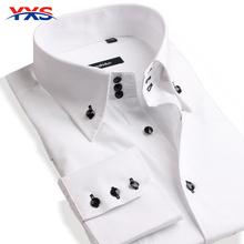 YXS100 NEW 2016 Men'S Long Sleeve Brand Dress Shirts Men's Commercial Dress Shirts Casual Cotton Tuxedo Shirt Men'S Shirt Camisa(China (Mainland))