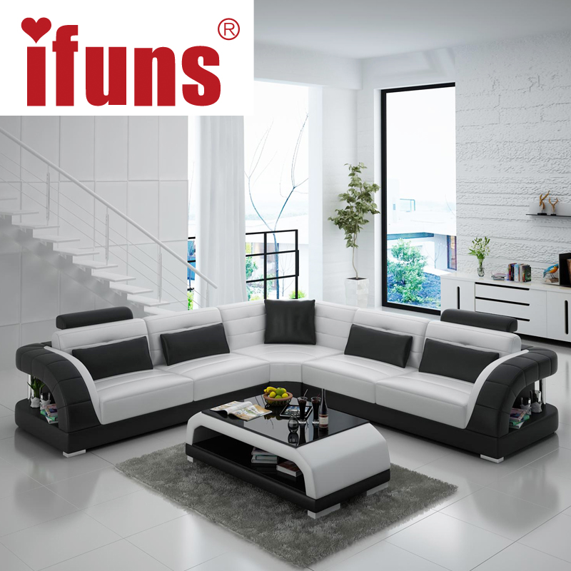 Buy ifuns china export modern design l for Living room set with chaise