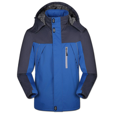 2016 Thicker Men's Jacket Winter Waterproof Fashion Wear Windproof Hooded Coats for Male Brand Clothing Big Size XS-5XL(China (Mainland))