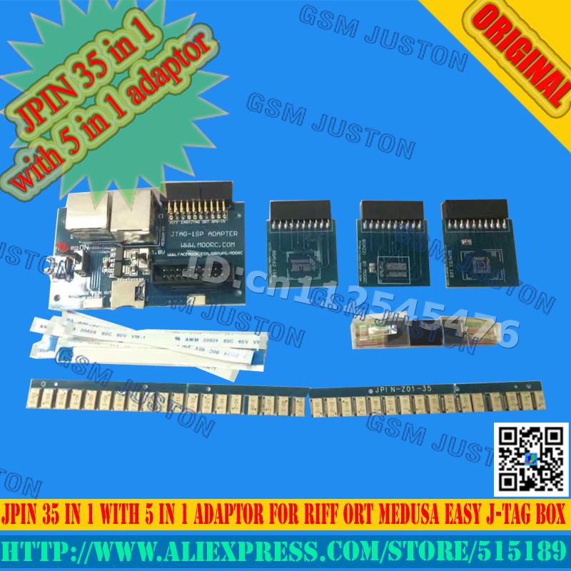 EASY JPIN 35 IN 1 with Isp 5 In 1 Adaptor For RIFF ORT GPG MEDUSA Easy JTAG BOX/Unlock &Flash&Repair mobile phone software(China (Mainland))