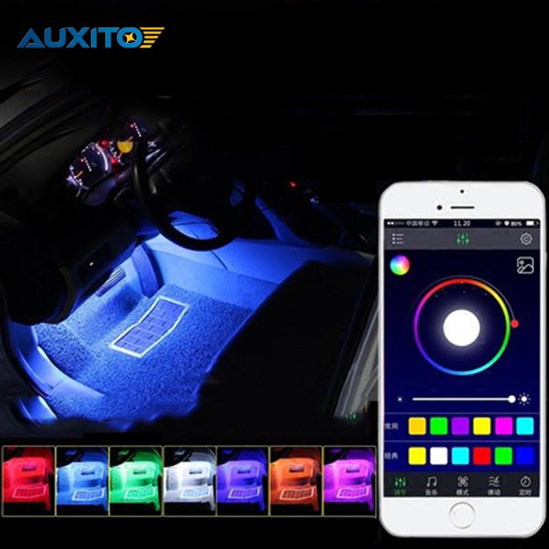 For Toyota Corolla Avensis Yaris Rav4 Auris Hilux Prius APP Control Car Interior Atmosphere Decoration Lamp RGB LED Strip Light(China (Mainland))