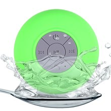 BTS-06 Water Resistant Mini Portable Shower Bluetooth Speaker with Sucker Hands-free Calls Function packed with Plastic BOX(China (Mainland))