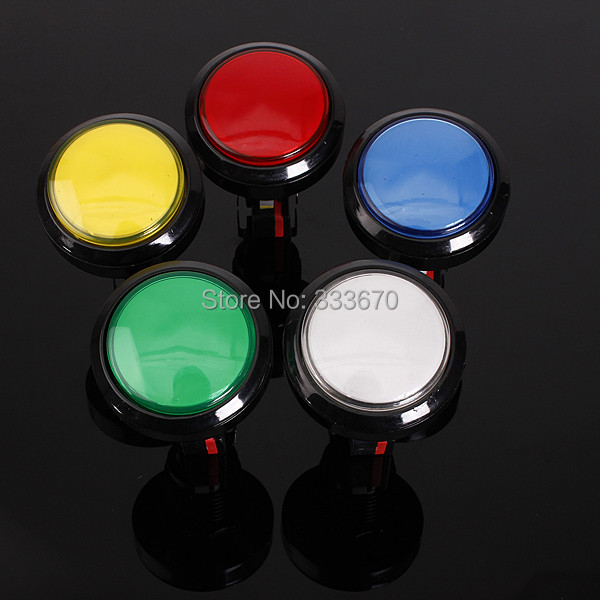 New 45MM Arcade Video Game Big Round Push Button LED Lighted Illuminated Lamp FREE SHIPPING(China (Mainland))
