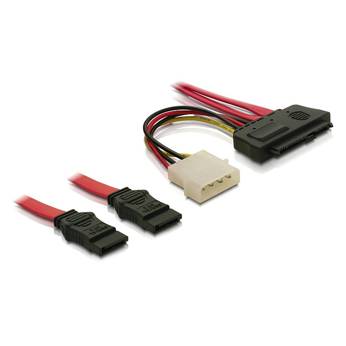 HDD SFF 8482 SAS 29pin to Double 2 SATA 7pin Cable 50cm(China (Mainland))