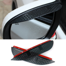 Buy Car Styling Carbon rearview mirror rain eyebrow Rainproof Flexible Blade Protector Accessories FORD Ecosport 2013 for $8.49 in AliExpress store