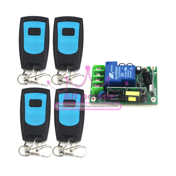105dB 200m 80v to 250 V315MHZ high power 1CH RF switch Remote controls for motor