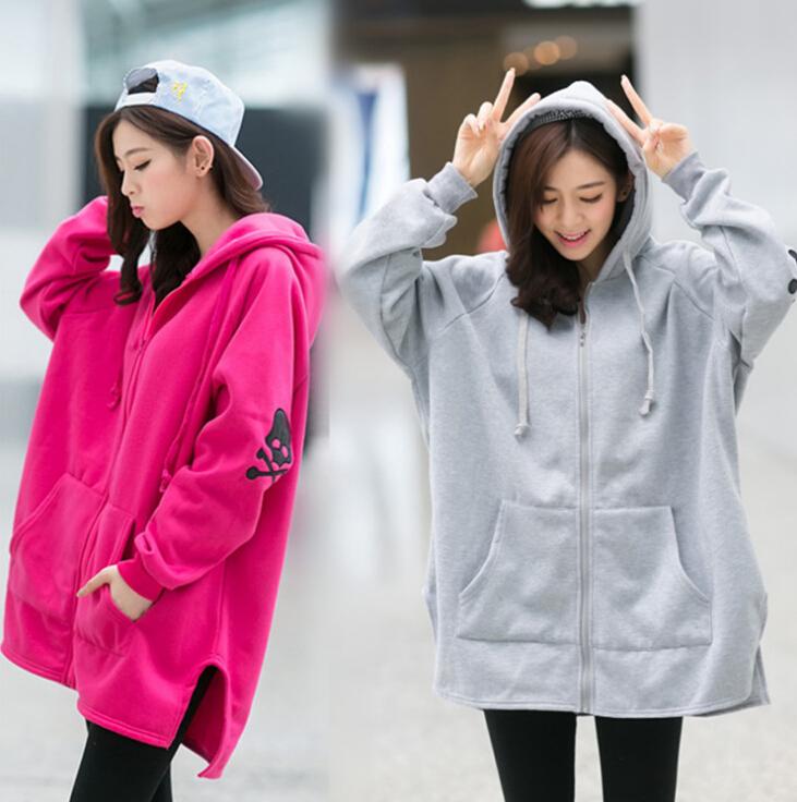 Korean Style Hoodies For Women Fleece Plus Size Sudaderas