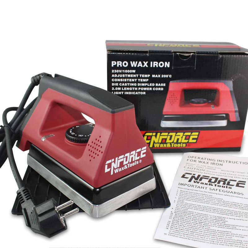 Full size wax iron with precise consistent temperature control With a iron pad Ski tuning 230V/1000 Watts of power(China (Mainland))