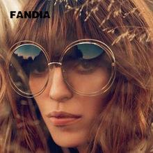 2015 NEW High quality Elegant Round Wire Frame Sunglasses Women mirror / gradient Glasses shades Oversized Eyeglasses ss076(China (Mainland))