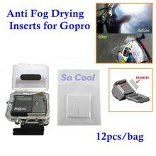Anti Fog Recycle Drying Inserts 12pcs/bag Surf Housing Case Kit Anti-Fog Inserts for GoPro Camera Hero3 2 3+ 4 HD Accessories