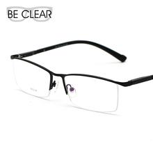Aluminum Alloy Half Rim Optical Frame Prescription Men Spring Temple Reading Eyeglasses Sports Glasses Light Spectacle 813522