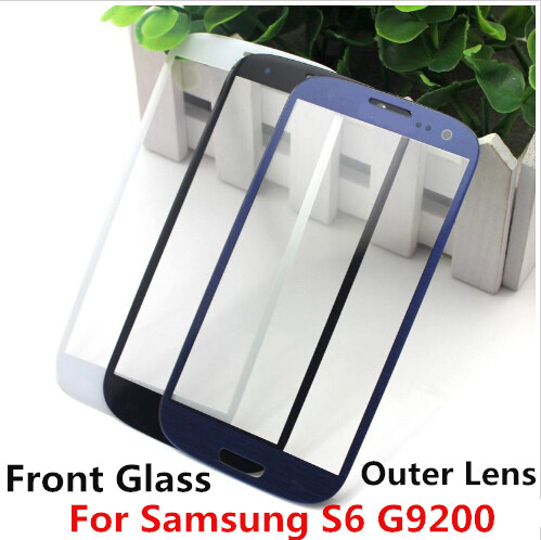 50pcs: S6 Touch Screen Digitizer Front Glass Lens for Galaxy S6 G9200 Front Screen Outer Glass Lens Replacement Cover By DHL