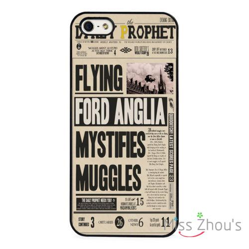 Harry Potter Daily Prophet Muggles back skins mobile font b cellphone b font cases for iphone