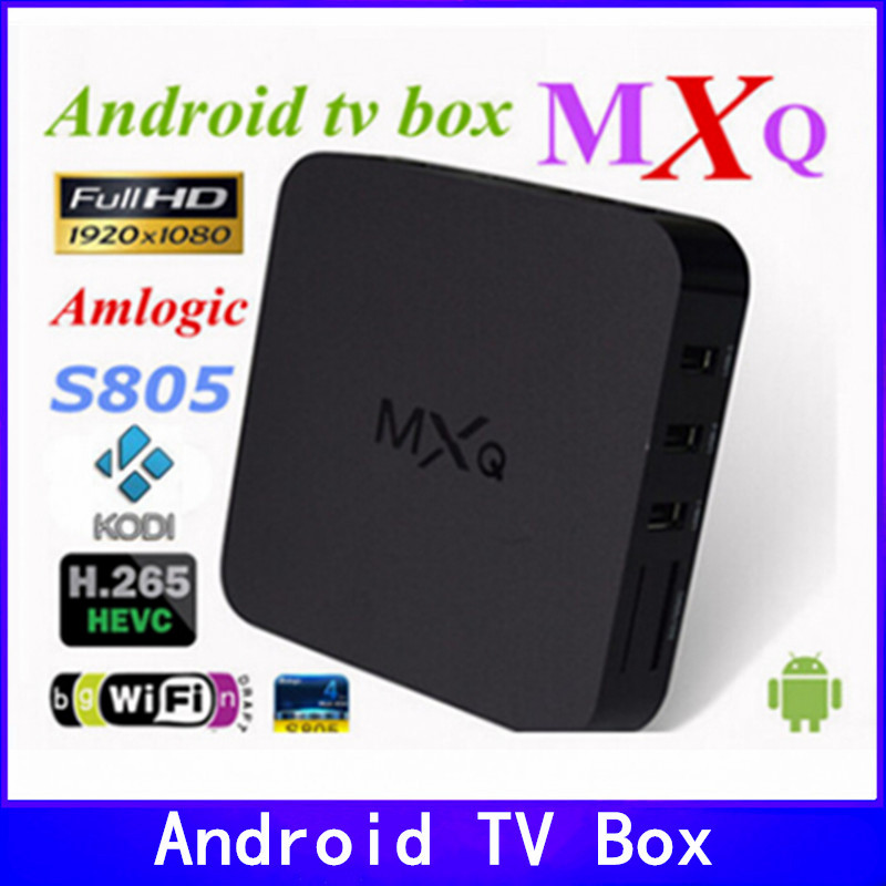 MXQ tv box.android tv box,Kodi Pre installed Amlogic S805 Quad Core Android 4.4 better than cs918,Q7,M8,MX,Smart tv box(China (Mainland))