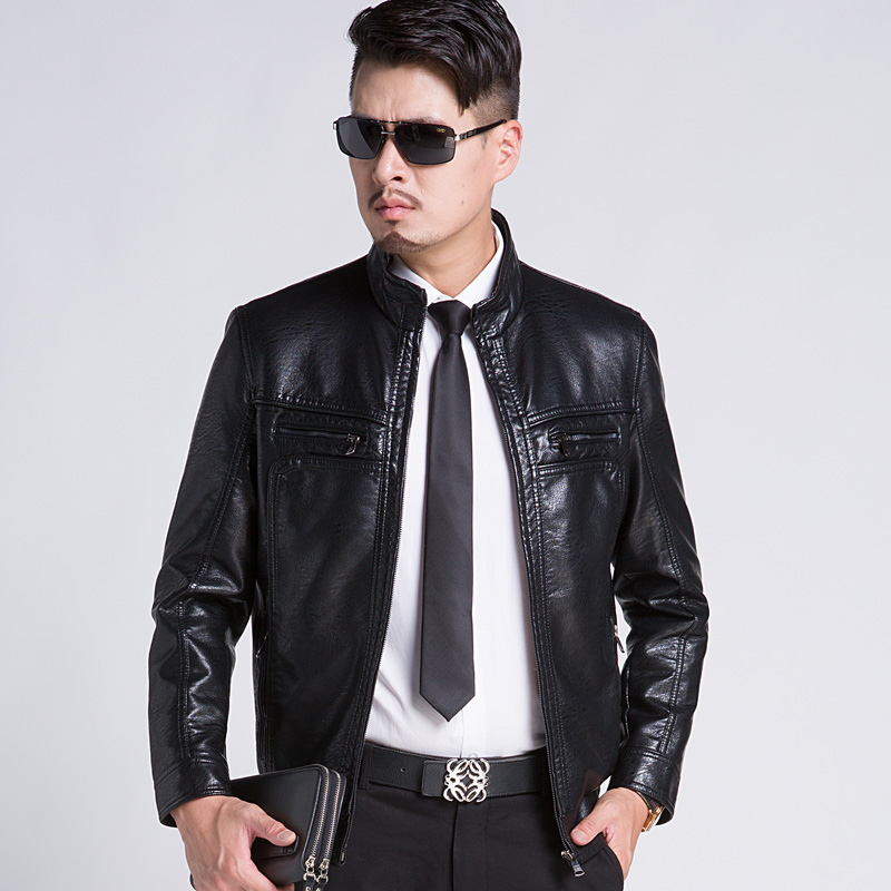 Free shipping the new 2015 men 39 s leather jackets high end for High end men s shirts