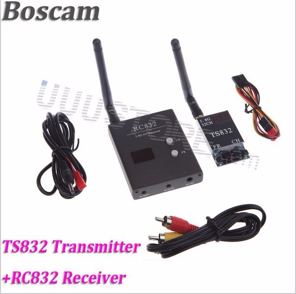 FPV Combo System 5.8Ghz 600mw boscam Transmitter and Receiver and No blue HD monitor3