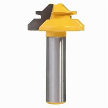 Nuevo 1 unid pequeño candado mitre Router Bit Anti contragolpe 45 degree 1/2 inch de Stock 1/2 pulgadas de espiga espiga cortador para herramientas para trabajar la madera