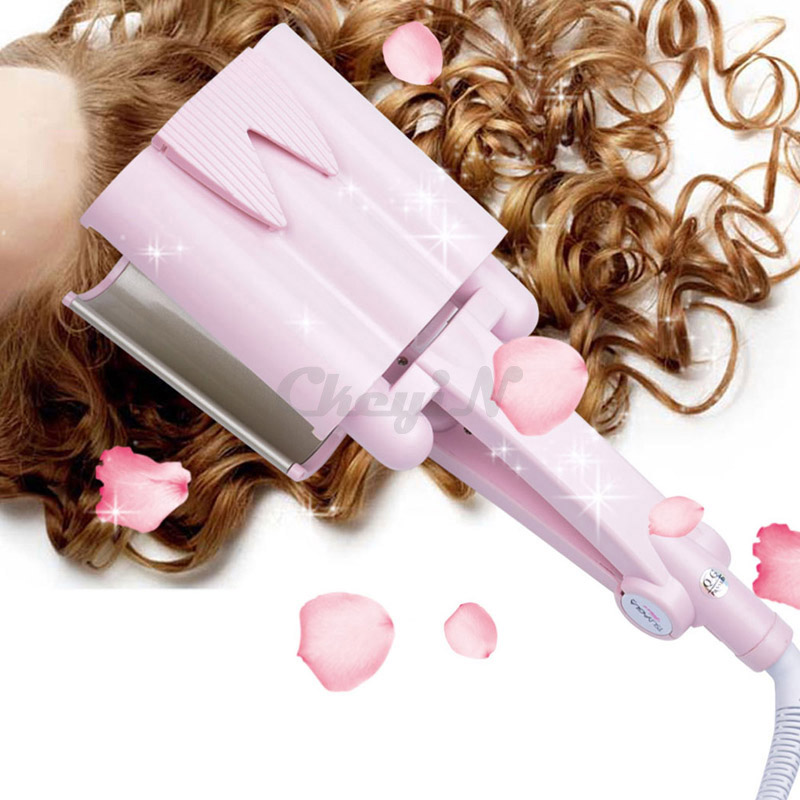 Fast Heat 3 Tube 32mm Tourmaline Ceramic Wand Curling Iron Professional Hair Salon Curler Electric Hair Style Tools 110-240V 35 <br><br>Aliexpress