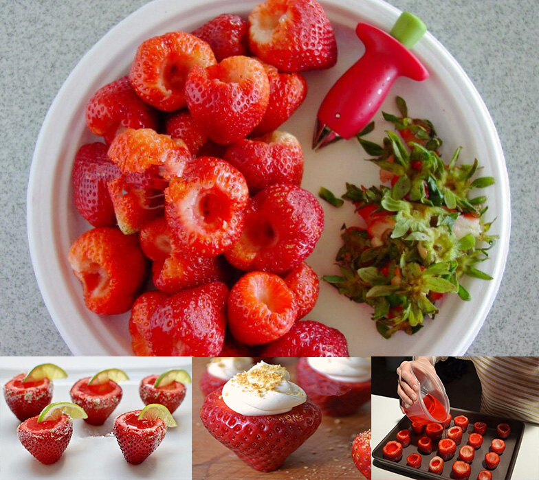Tomato Strawberry Stalks Dig Nuclear Device Creative Kitchen Tools Knife Fruit Dig Nuclear Device Kitchen Accessories Gadgets(China (Mainland))