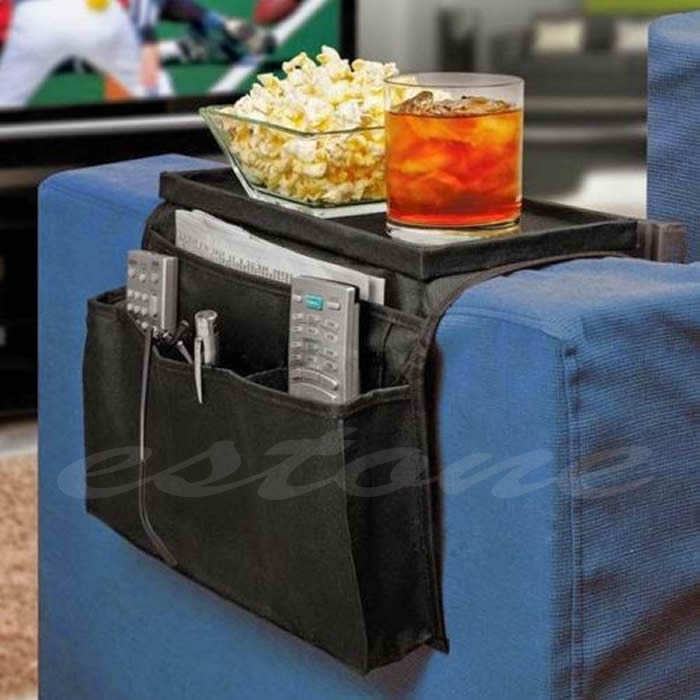 F85 Sofa Arm Rest Chair Settee Couch Remote Control Table Top Holder Organiser Tray(China (Mainland))