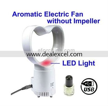 2 in 1 USB Aromatic Electric Fan without Impeller