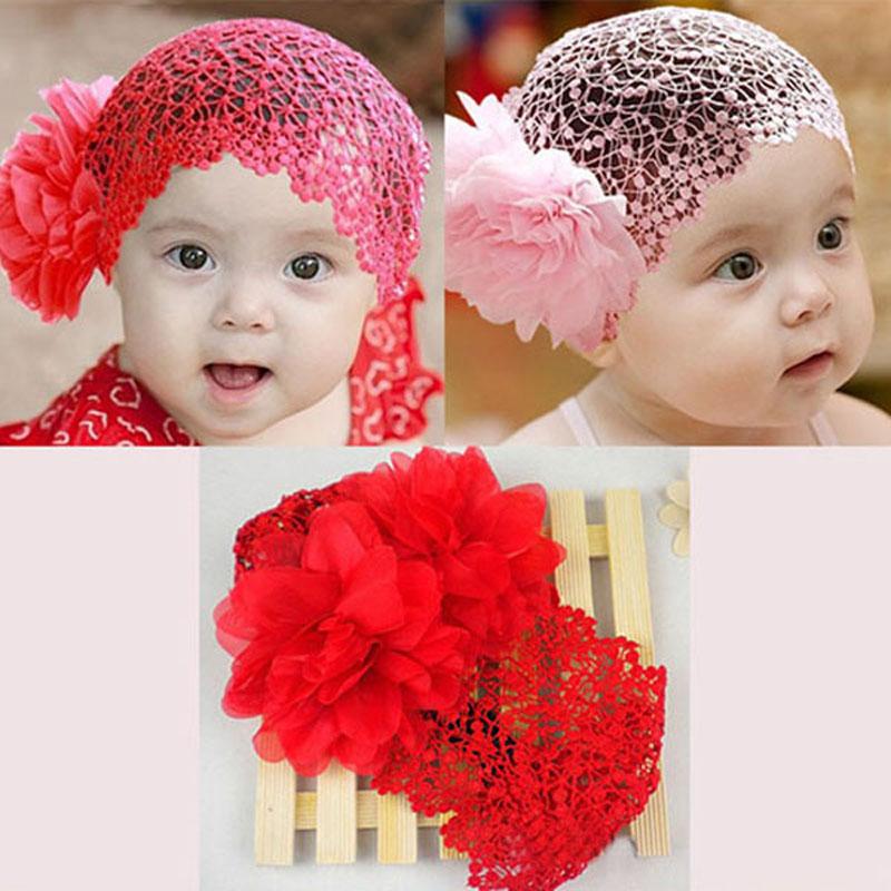 Aliexpress.com Comprar 2016 de los bebés redecilla niños pequeños recién nacido fotografía atrezzo infante de encaje Bebe flor diadema diadema de pelo