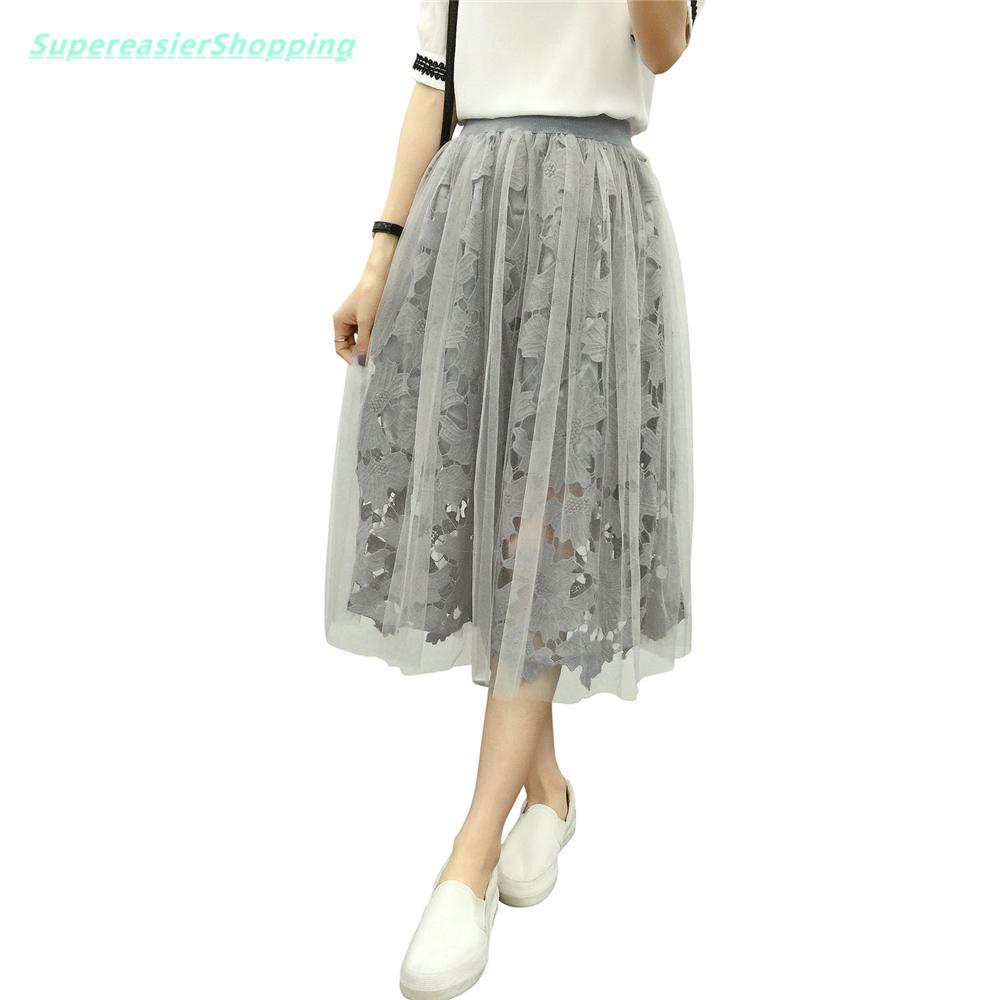 Popular On Sale Womens 7 Layers Midi Tulle Skirt Tutu Skirts Petticoat Fashion