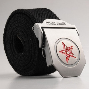 Free shipping Red star clinching belt military male canvas belt casual male belt(China (Mainland))