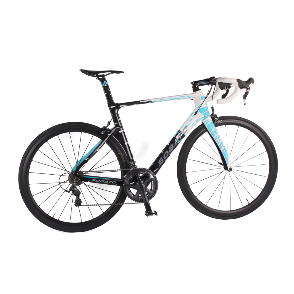 popular 2016 soabto complete Carbon Road Bike Bicycle 22 speed full bicycle 50mm carbon wheelset carbon fiber complete road bike(China (Mainland))