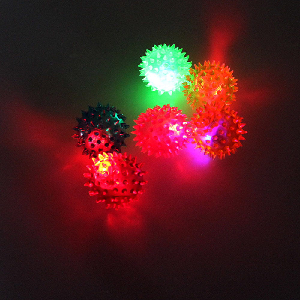 Flashing Light Toys Spikey High Bouncing Balls Novelty Sensory Hedgehog Ball Children Kids Toy Gifts Light Up Toys(China (Mainland))