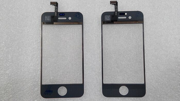 Black and White Front Glass Lens + Touch Screen Digitizer For iPhone 4 4S Replacement for Mobile Phone LCD Screen Opening Tools(China (Mainland))