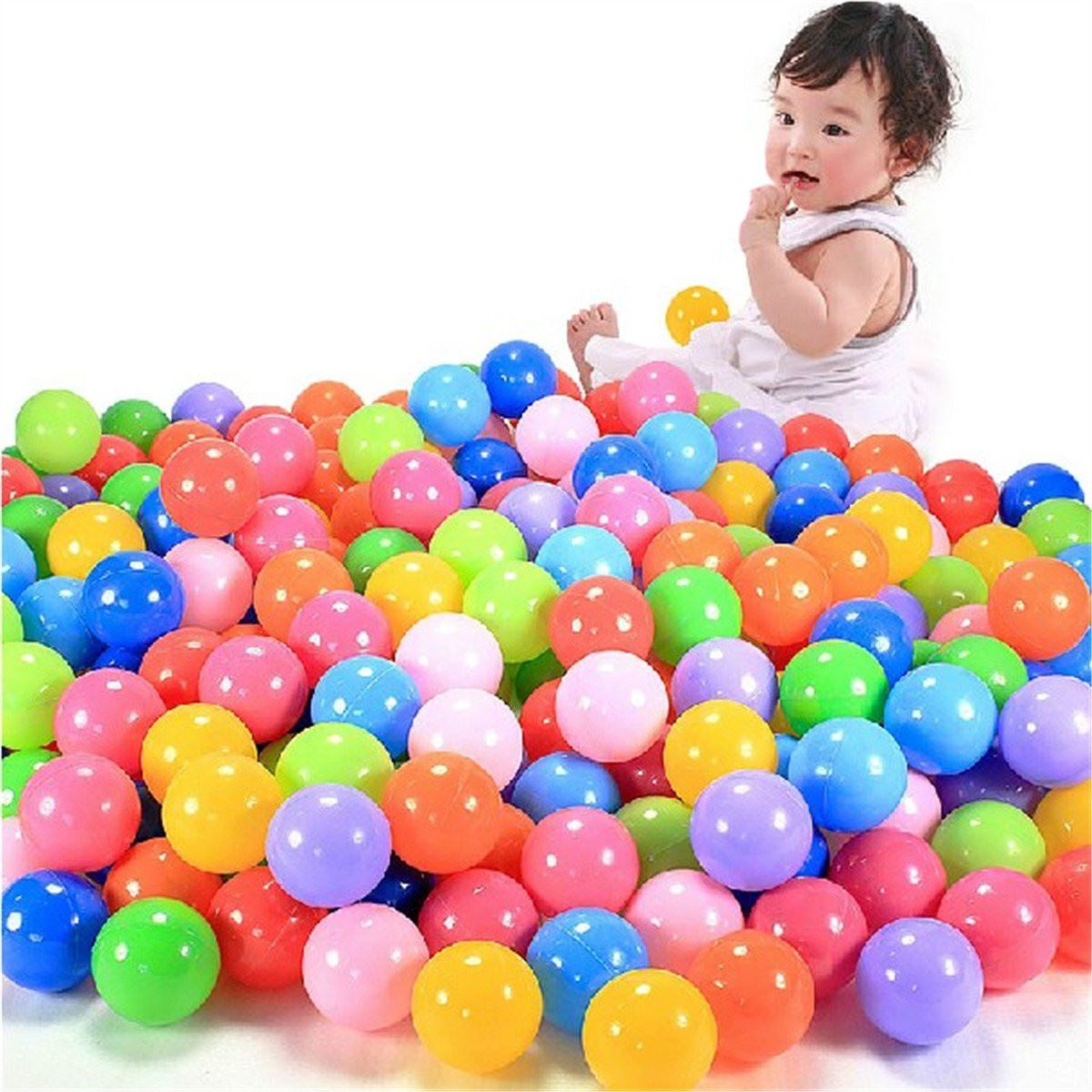 200pcs/set 40mm Secure Colorful Ball Soft Plastic Ocean Ball Funny Baby Kid Swim Pit Toy Water Pool Ocean Wave Ball(China (Mainland))
